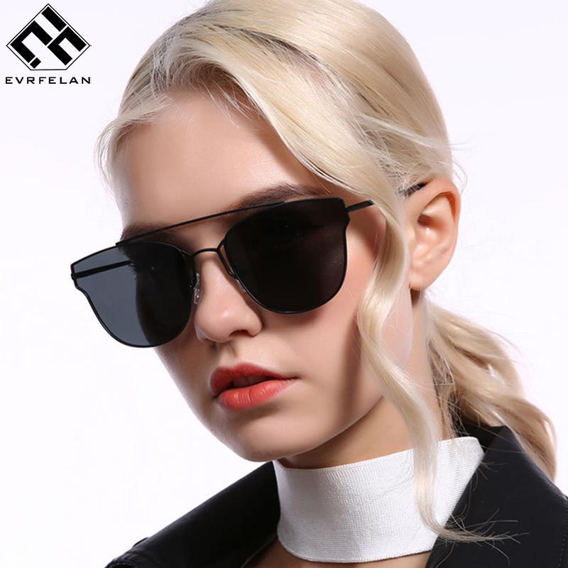 057db14391 Evrfelan Fashion Women Cat Eye Sunglasses Designer Vintage Polarized  Eyeglasses Shades Twin Beam Cat Sunglass Vacation Oculos Cool Sunglasses  Custom ...