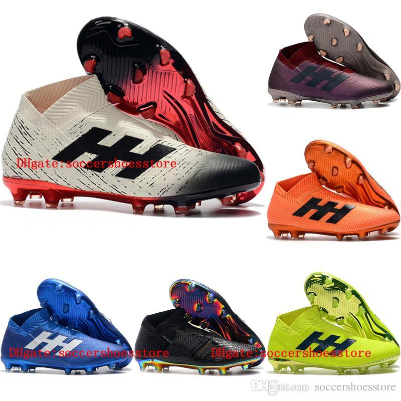 023b0db3e4 Compre Zapatos De Fútbol Para Hombre Baratos 2019 Nemeziz 19+ FG Botines De  Fútbol De Tobillo Alto Nemeziz Messi 19 Botas De Fútbol Para Exterior  Scarpe Da ...