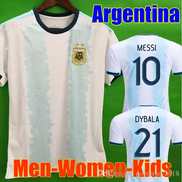 Thailand Argentina soccer jersey copa america 2019 2020 MESSI DYBALA HIGUAIN ICARDI football soccer shirt kit Men Women Kids Long sleeve set