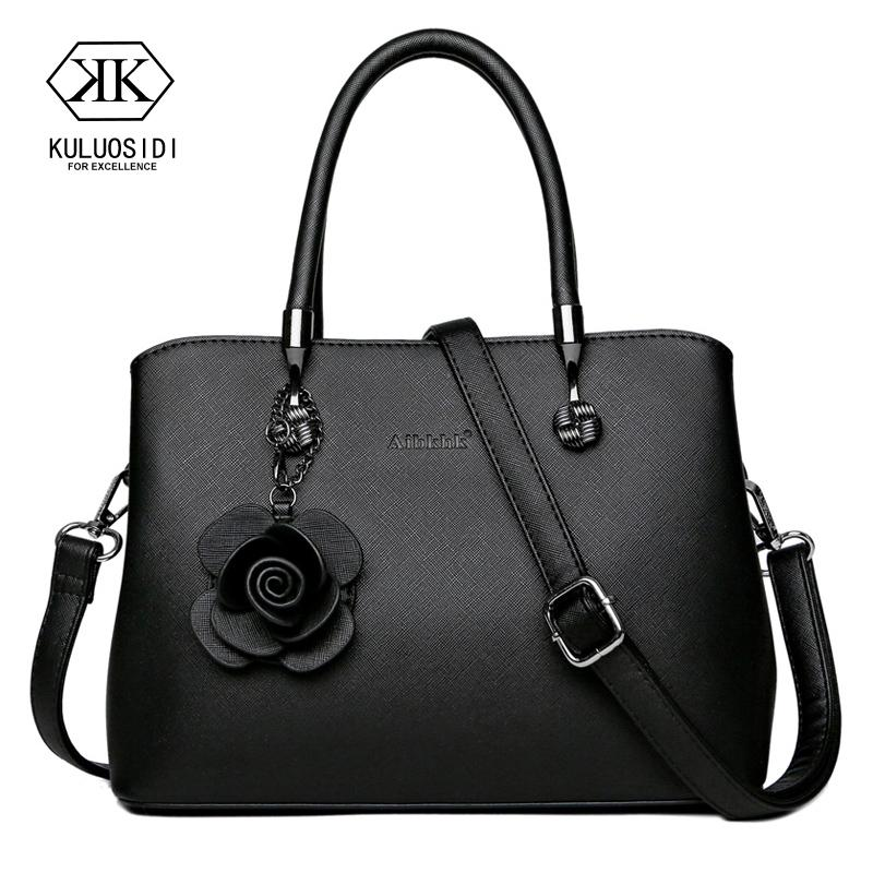2600fbc03d Flower Genuine Leather Bag for Women 2018 Luxury Handbags Women Bags  Designer Sac a Mian Ladies Hand Bags Mother Gift Shoulder Bags Cheap Shoulder  Bags ...