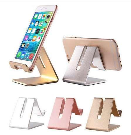 4 Colors Universal Aluminum Alloy Cell Phone Tablet PC Desk Holder Mount Metal Foldable Mobile Stand for iphone samsung J30