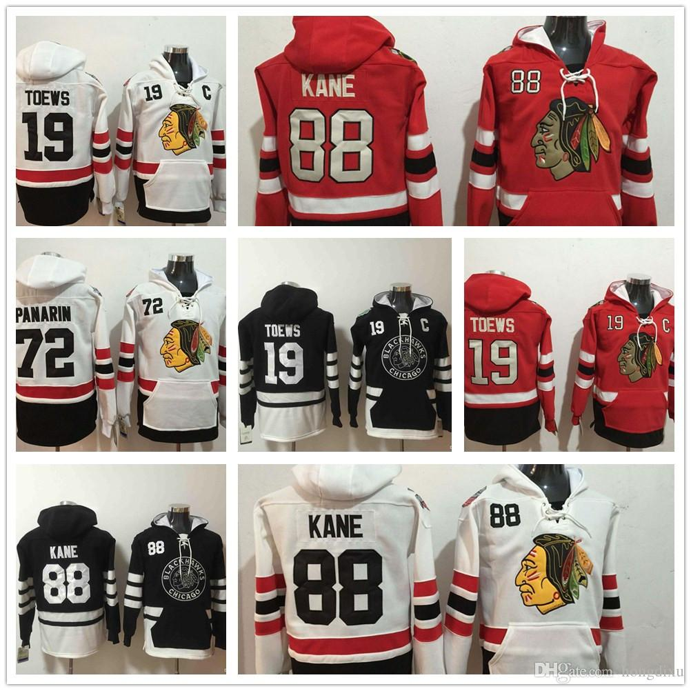 11dbbd16714 Mens 2019 Winter Classic Jerseys Chicago Blackhawks Hoodies 88 ...
