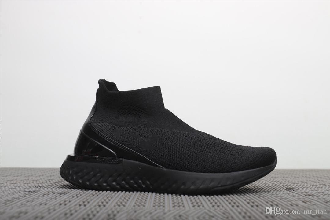 watch 2893f 4053e Nike Epic React Flyknit Invierno 2019 De Alta Calidad, Nuevos Juegos De  Calcetines, Los Zapatos Casuales Más Modernos Para Hombres Y Mujeres EURO  36 44 Por ...