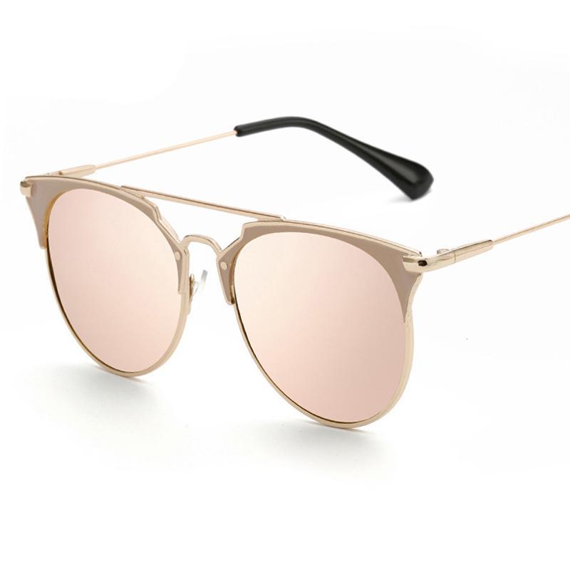 b5709d72c589 Compre Psacss NUEVO Vintage Metal Cat Eye Sunglasses Mujeres Diseñador De  La Marca Retro Gafas De Sol Espejo De Moda Femenina Lunette De Soleil Femme  A ...