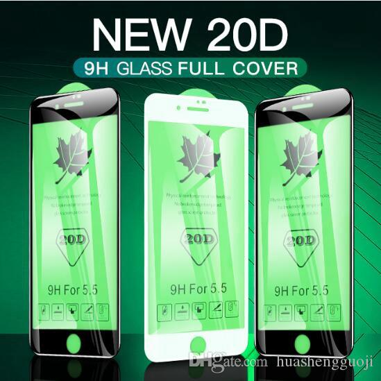 61db2629d9f Protector Para Pantalla Nueva Actualización 20D Cristal Templado De Borde  Curvo Para IPhone X XS XS Máx. 6 7 8 Plus Película De Protector De Pantalla  De ...