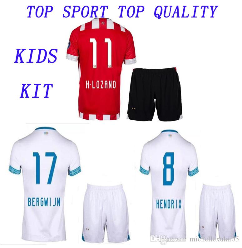 Kids Eindhoven Soccer Kit H. Lozano L.De Jong Football Shirt Pants 2018 2019  Children Soocer Jersey Shorts Boys Thai Quality Sports Uniforms UK 2019 From  ... 11b2280b1