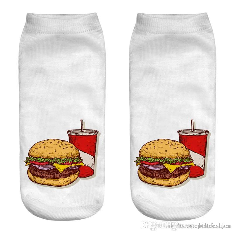 McDonalds Food Print Womens Socks Designer Hamburger French Fries Mens Socks Casual Couple Matching Short Hosiery