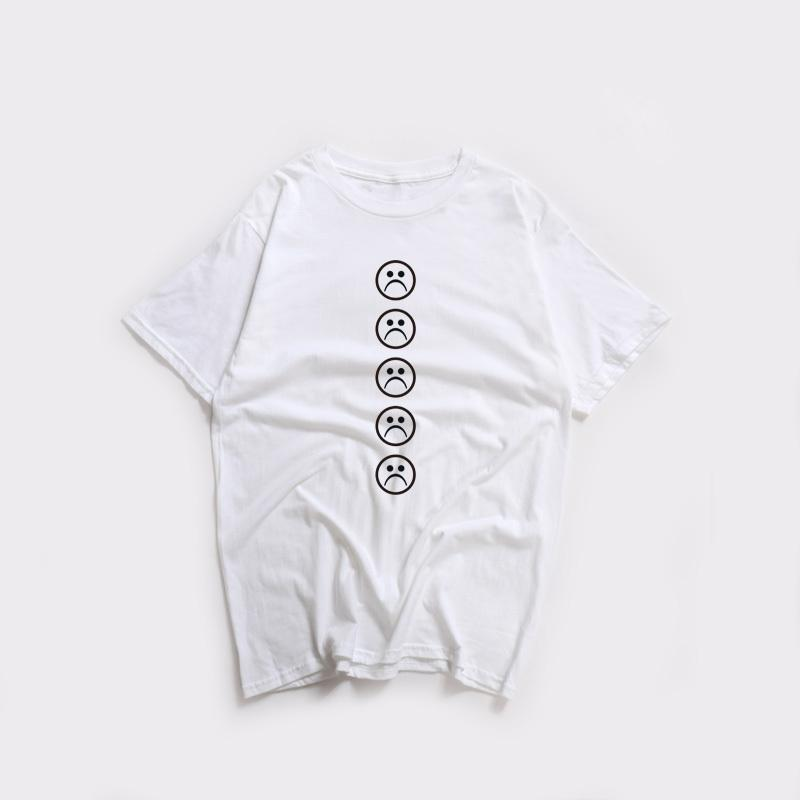 9ff4b65a Sad Face T Shirt Men And Women Meme Stickers Funny Sad Emoji Face Cute Tumblr  T Shirt Short Sleeve Ringer Tees Tops Amusing T Shirts With T Shirt From  Jc02, ...