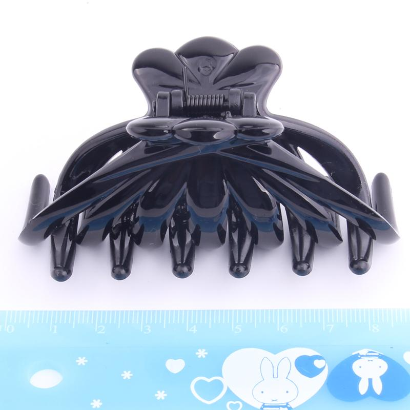 Fashion Hair Claw Clips Wholesale Quality Black Plastic Hairpin Tines Crab For Hair Simple Shower Hair Clips Beauty Beauty Tools