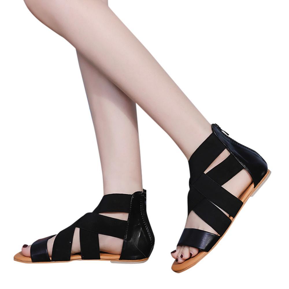 49804135 Compre Zapatos De Plataforma Mujer 2018 Sandalia Mujer Damas Verano Bajo  Talón Plano Chanclas Zapatillas Sandalias De Playa Zapatos # G6 A $46.37  Del ...