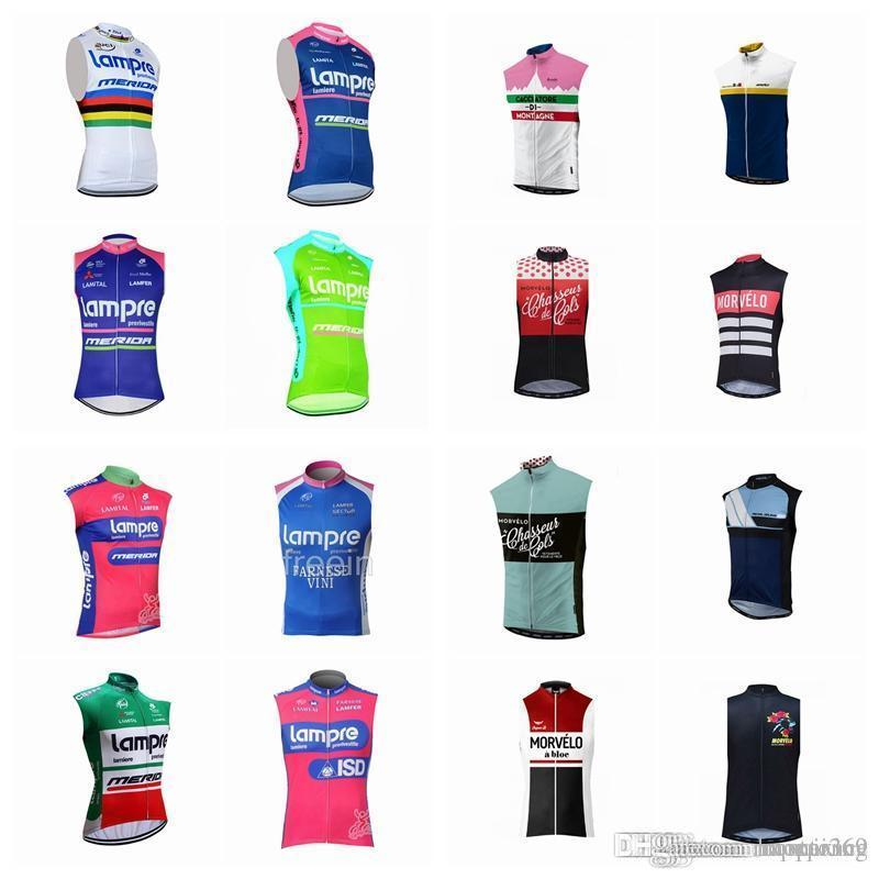 LAMPRE Morvelo team Cycling Sleeveless jersey Vest thin MTB Summer For Men Quick Dry Compressed Bike Wear D2715