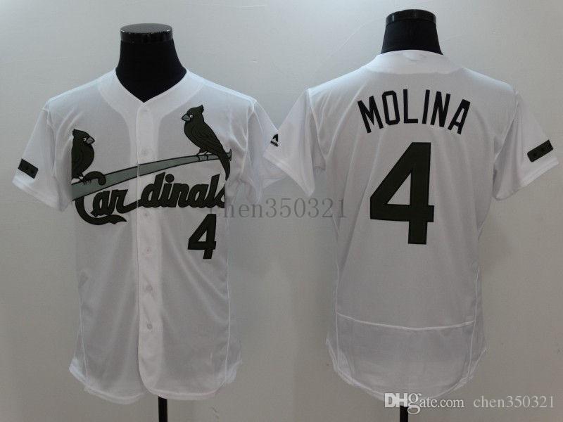 buy popular 2927d 7f05e 12 styles Mens St. Louis Cardinals Majestic Cool Base #4 Yadier Molina  Jerseys Custom Baseball Jerseys