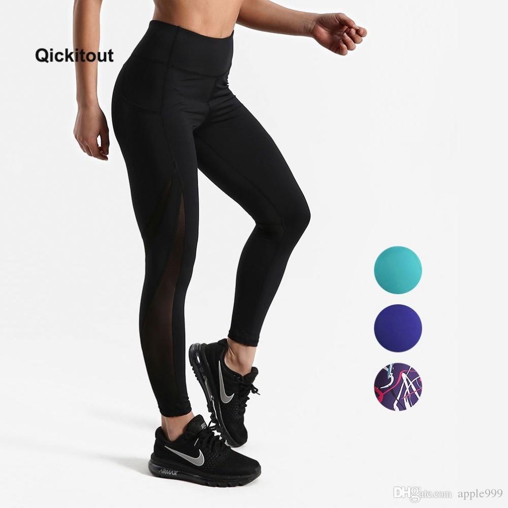 36e56d7f96 2019 Women Mesh Pants Fitness Leggings Sporting Workout Leggings Elastic  Trousers Slim Striped Printed Pants High Waist Leggings From Apple999, ...