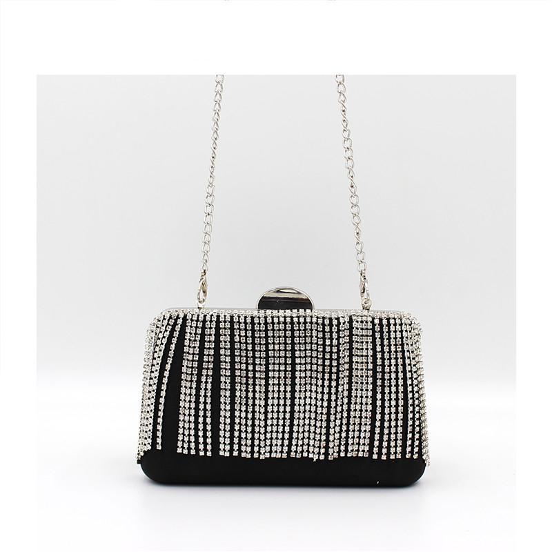Evening Clutch Bags Diamond Tassel Evening Bag With Chain Shoulder Bag Women's Handbags Wallets For Wedding