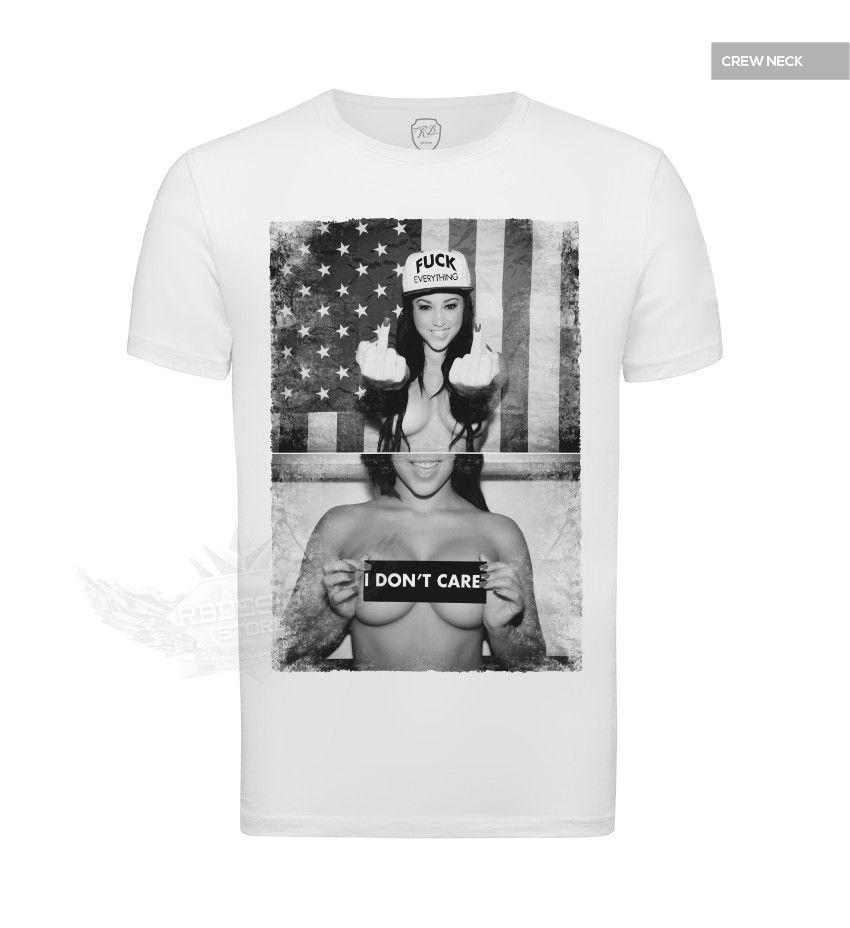 803160eab633 White Mens T Shirt Sexy Girl Middle Finger Cool Graphic Tee Urban Style Wear  347 Size Discout Hot New Tshirt Long Sleeve Tee Shirts Design Your Own T  Shirts ...