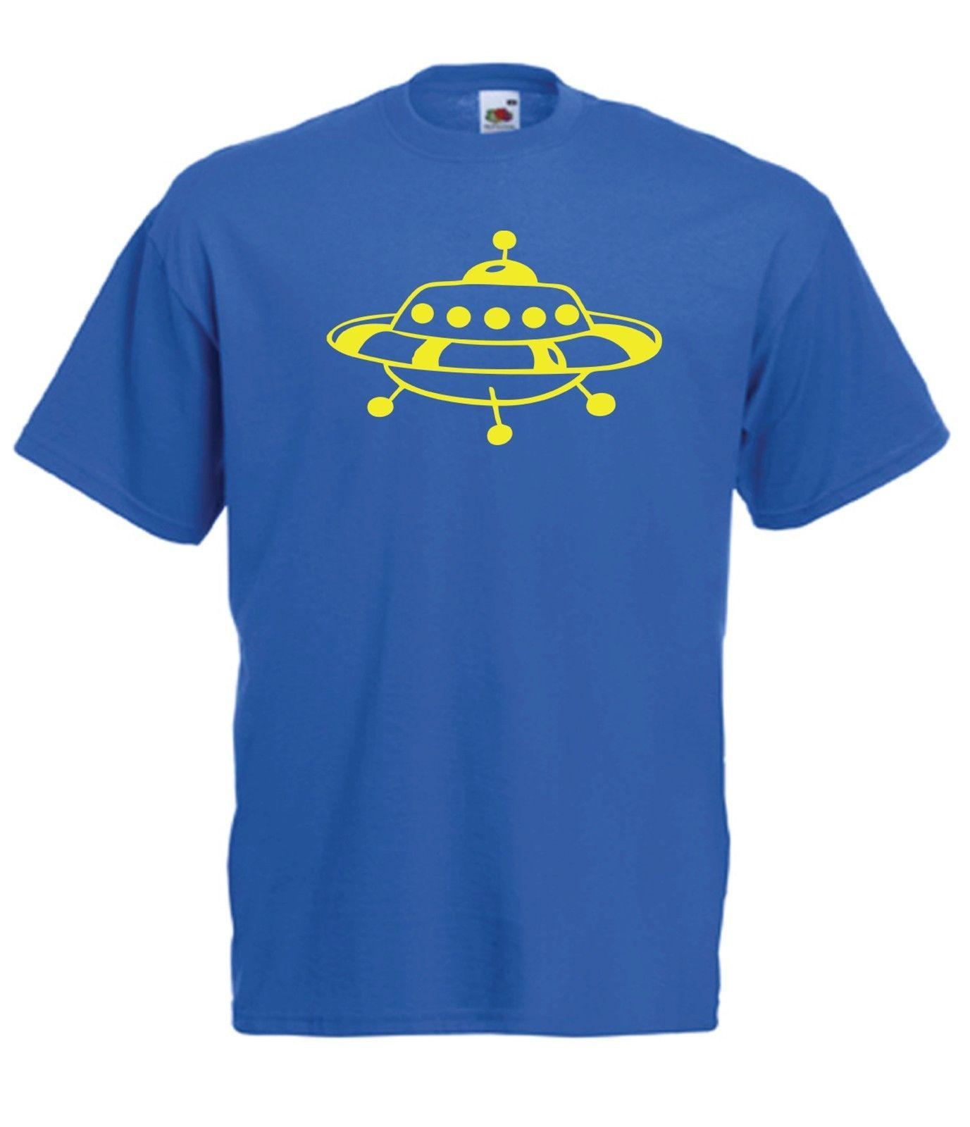 UFO ALIEN SPACE SHIP Funny Trek Top Xmas Birthday Gift Ideas Boys Girls T SHIRT Classic Quality High Shirt Design And Order Shirts Gag From
