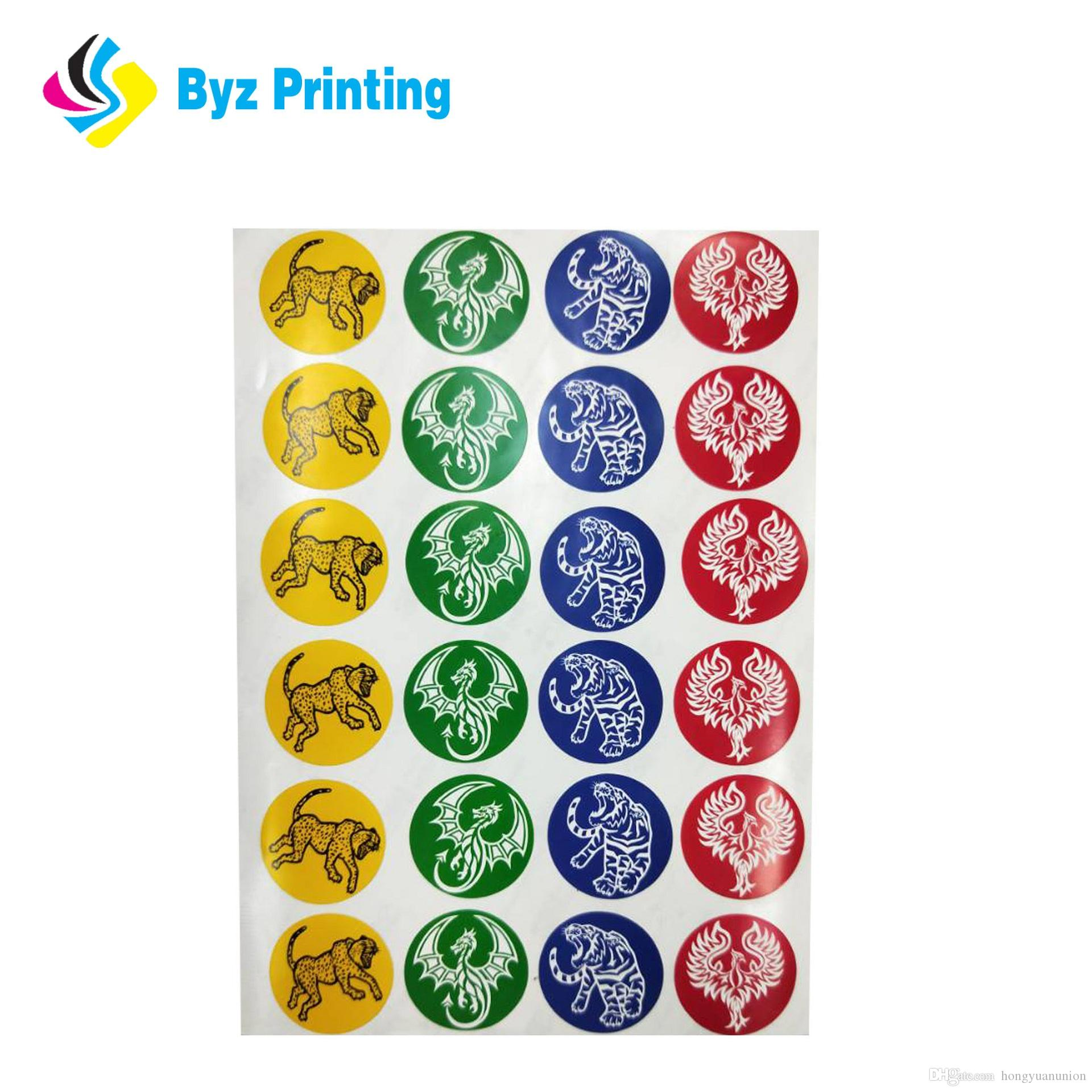 Custom logo printed waterproof self adhesive promotional die cut stickers die cut sticker logo sticker promotional sticker online with 0 12 piece on
