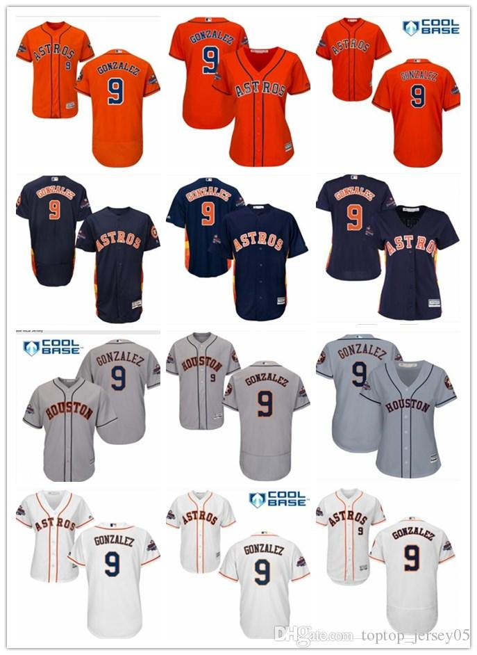the latest cda3e ef703 2018 top Houston Astros Jerseys #9 Marwin Gonzalez Jerseys  men#WOMEN#YOUTH#Men s Baseball Jersey Majestic Stitched Professional  sportswear