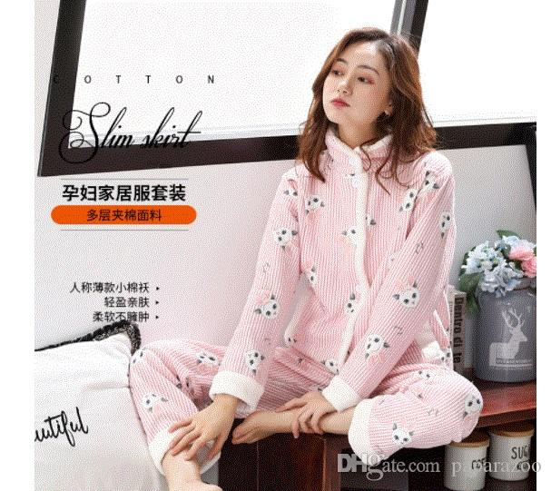 2018 The New Pregnant Women S Air Layer Jacket Cotton Moon Dress