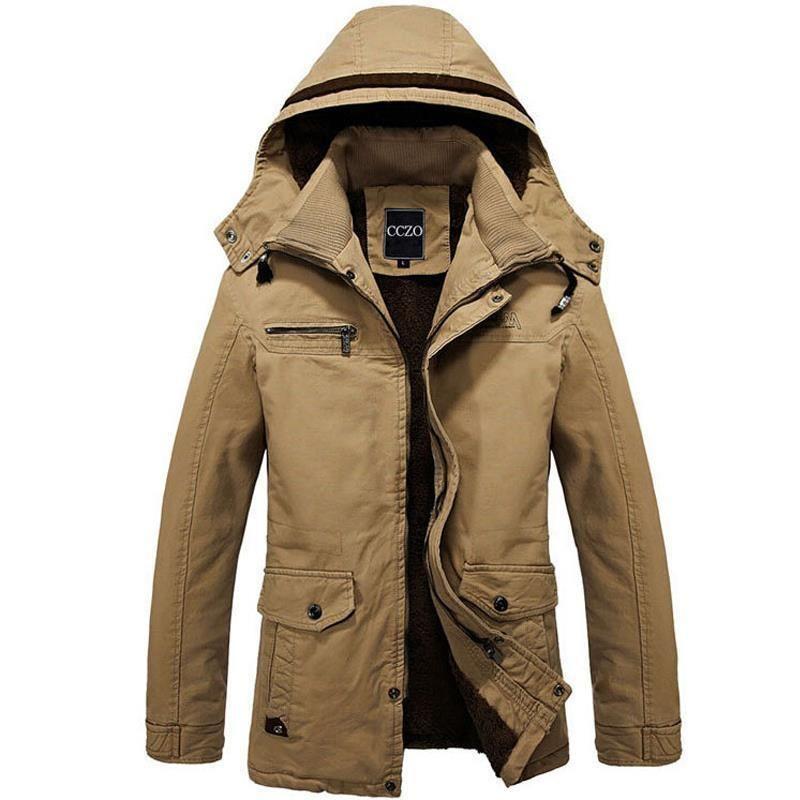 Jackets & Coats Nice Winter Men Warm Down Coat Long Sleeve Stand Collar Soft Warm Jacket Casual Zipper Windproof Slim Parka Male Pullovers Overcoat Down Jackets