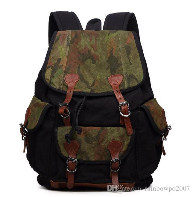 The Factory Direct Tideing Brand New Brand Large Travel Bag Men Camouflage  Backpack Retro Canvas Rucksack Mountaineering Outdoor Leisure Bag Kids  Backpack ... 0fc2f2c4ef