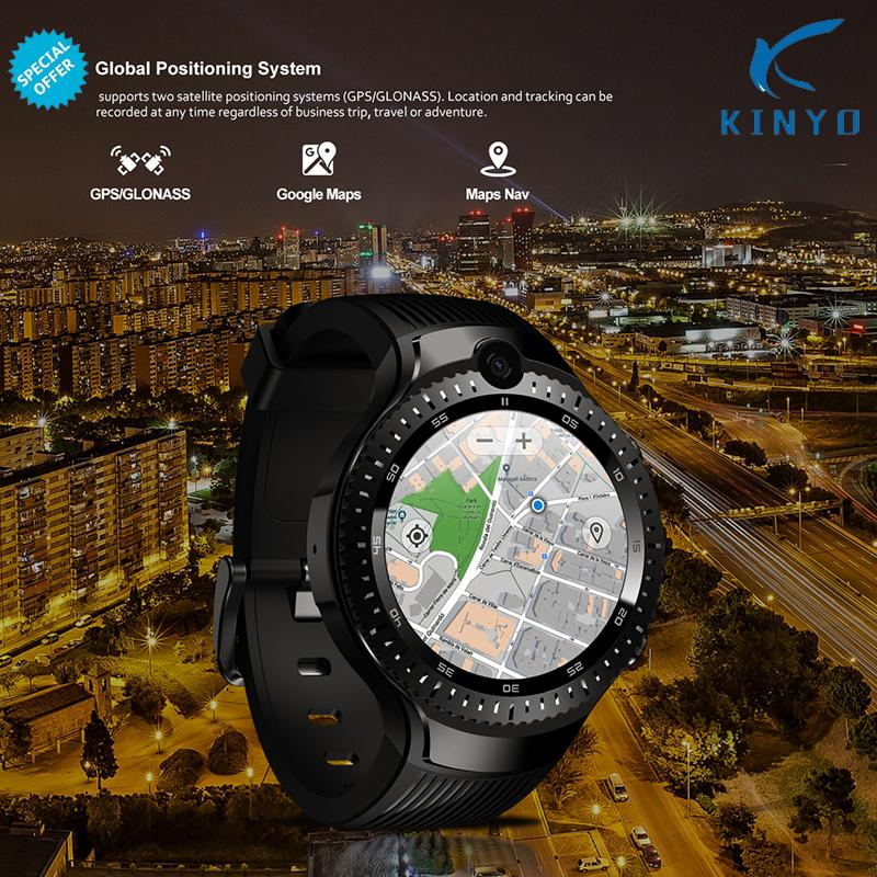 0a42880d636 Android 7.1 LTE 4G Smart Watch 1 + 16GB Memory Support SIM card WIFI GPS  Google Map Smartwatch 5MP +5MP Camera like M7 8 Z28 W2