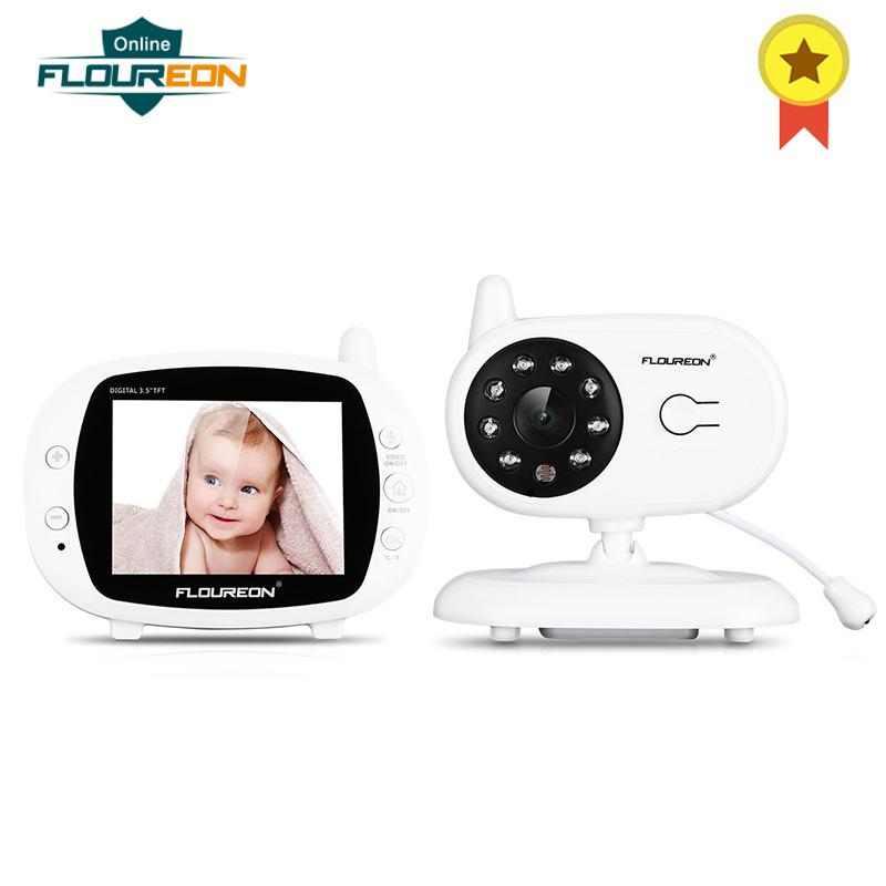 067fe28563b3 FLOUREON 3.5   Digital Wireless Baby Monitor LCD Video Nanny Security  Camera Temperature Display 2 Way Talk Night Vision Radio Web Camera Online  Web Camera ...