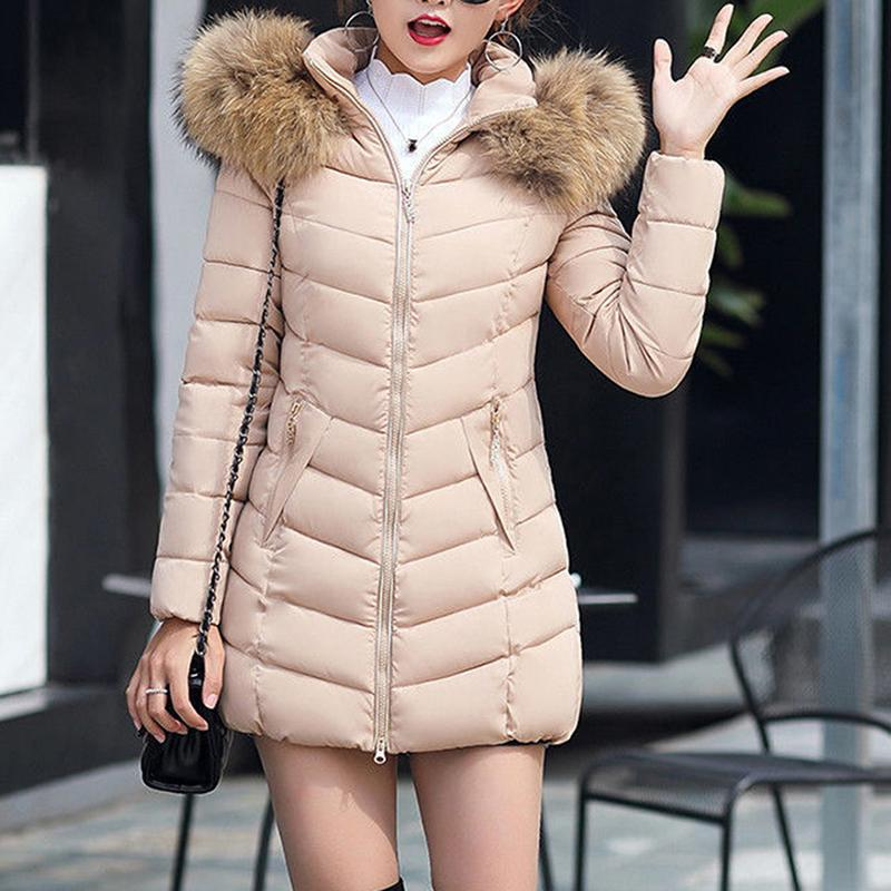 Women Parka Winter Coats Long Cotton Casual Fur Hooded Jackets Ladies Warm Winter Parkas Female Overcoat Women Coat