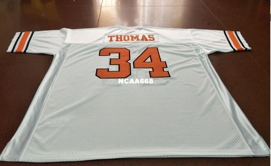 pretty nice 59ad3 d837a Men Oklahoma State cowboys #34 Thurman Thomas College Jersey Size S-4XL or  custom any name or number jersey
