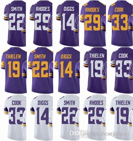 56fa18fb8c7 Cheap 2018 Minnesota Viking Jersey #33 Dalvin Cook 14 Stefon Diggs 22  HARRISON SMITH 19 Adam Thielen 29 Rhodes Vapor#Untouchable Limited Jerseys
