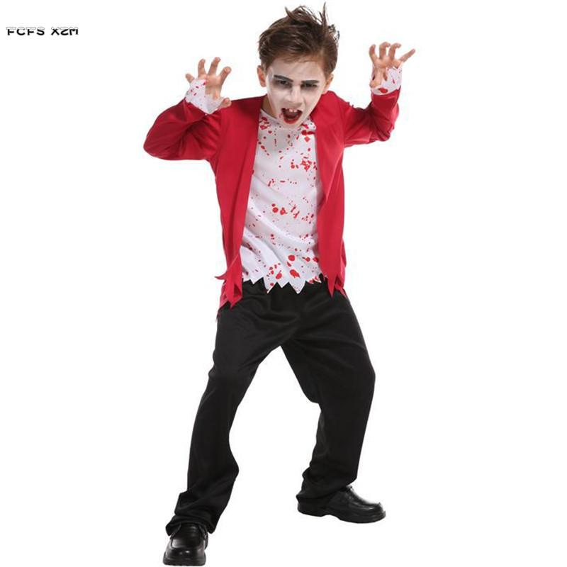 M,XL Boys Halloween Costumes for Kids Children Vampire Zombie Cosplays  Purim Carnival parade Masquerade party dress