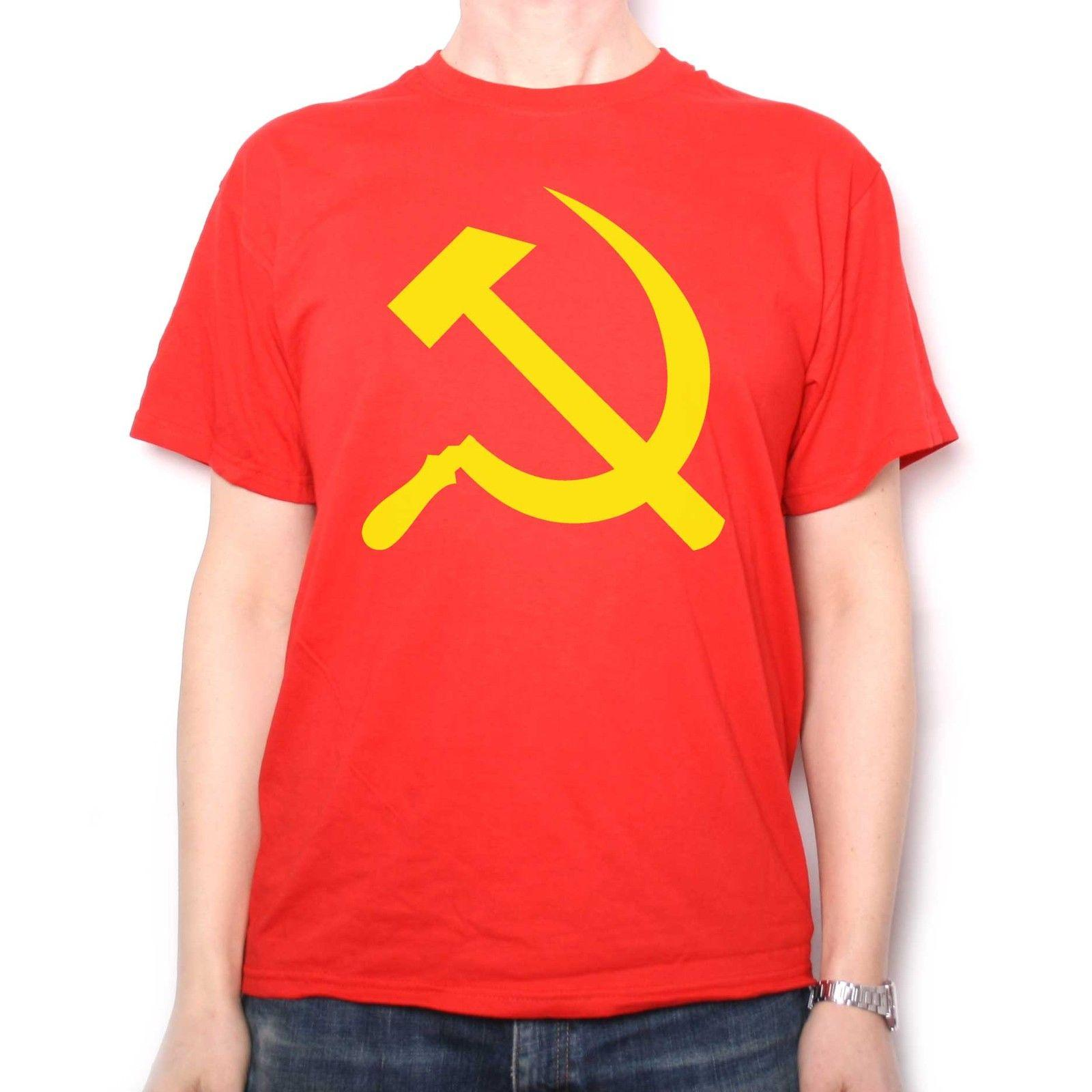 Hammer & Sickle T Shirt - Communist Flag Russion Communism Anti Capitalism?Funny free shipping Unisex