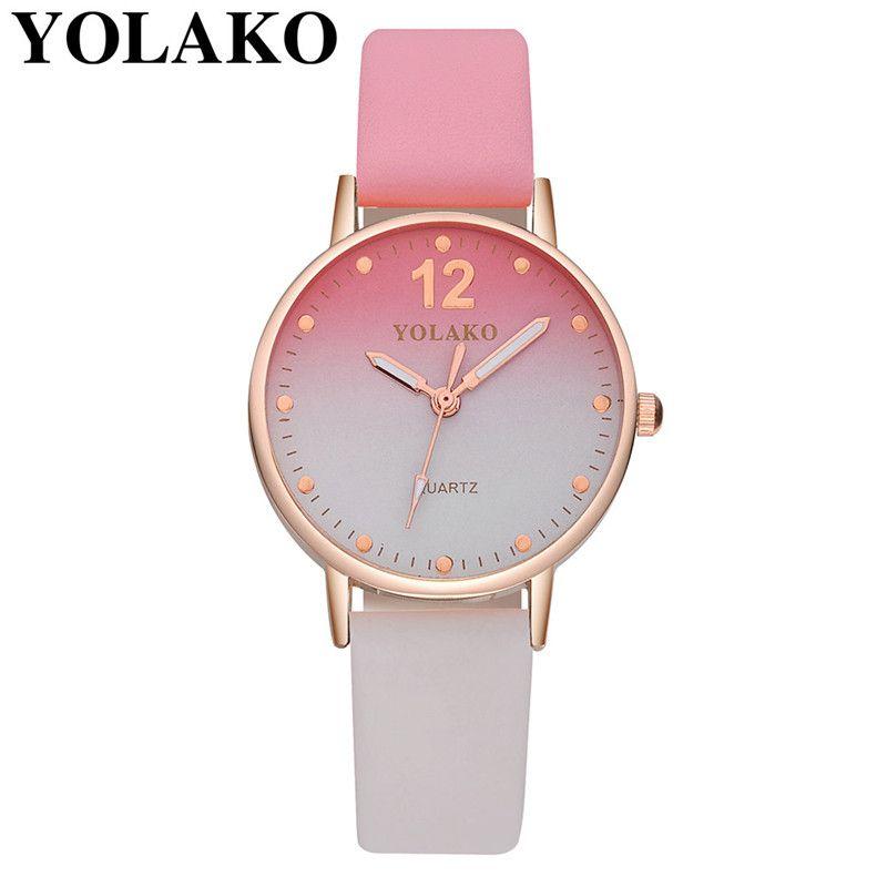 f5b89126a8a Compre YOLAKO Relógios Das Mulheres Novas Casuais Pulseira De Couro De  Quartzo Analógico Brow Relógio De Pulso Tops Marca De Luxo Pulseira Relógio  De ...