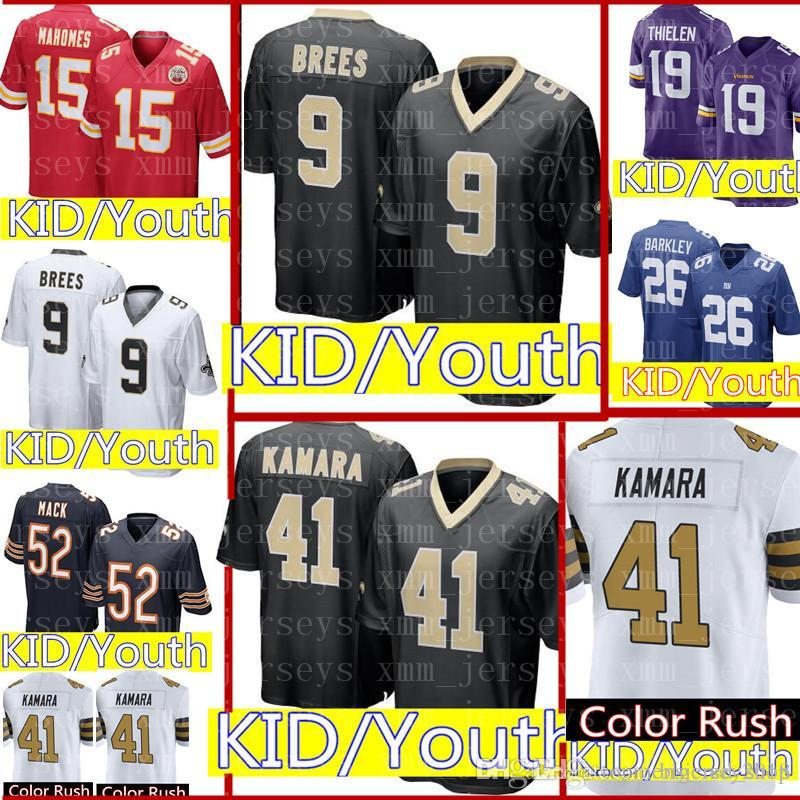 quality design 5b2fb 11744 KID 41 Alvin Kamara 9 Drew Brees Jersey Youth KIDS New Orleans Saints  Football Jerseys Color Rush Limited Cheap wholesale Free Shipping