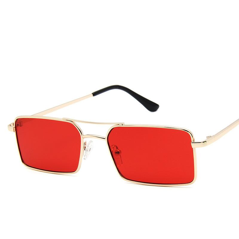 eb18bc5ccab99 2019 Narrow Sunglasses Men Summer Red Blue Black Rectangular Sun Glasses For  Women Small Face Hot Selling Eyeglasses Sunglasses Hut From Juemin