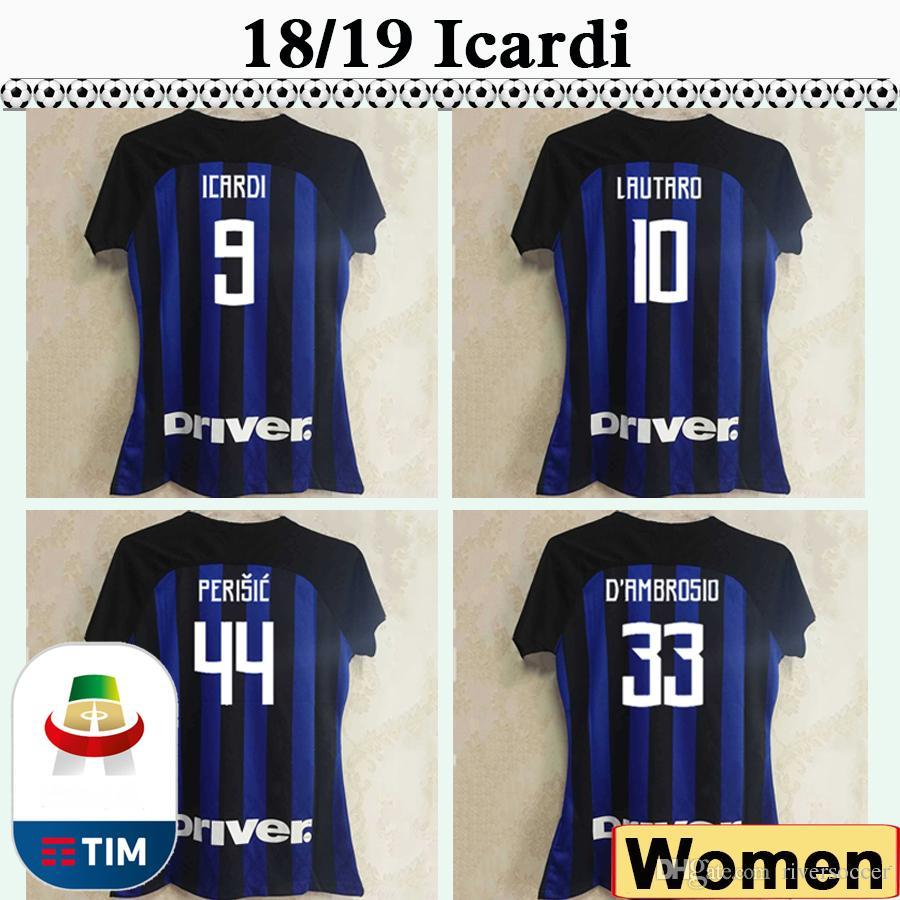 d46e65fc14f 18 19 ICARDI PERISIC Women Soccer Jerseys BROZOVIC SKRINIAR Home ...