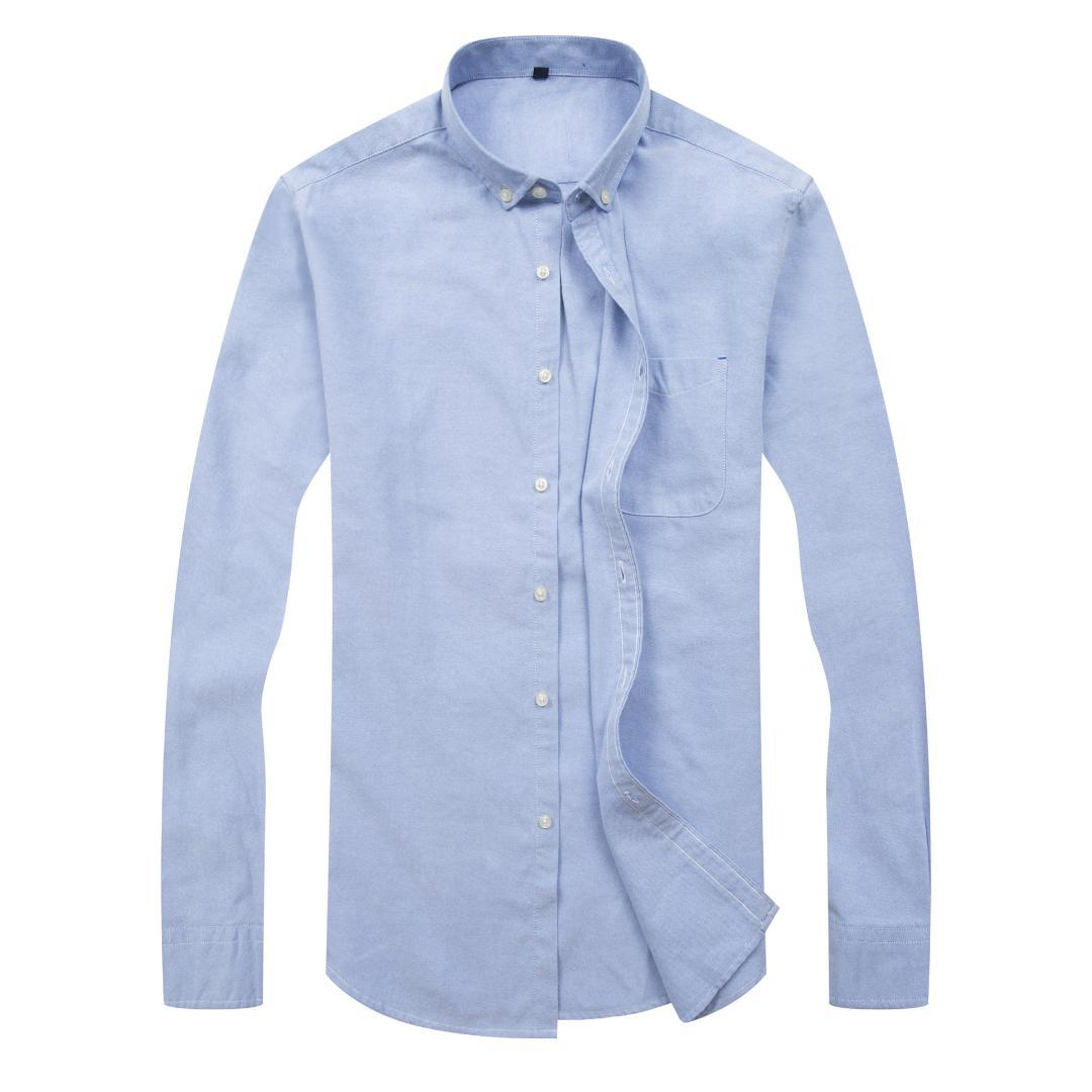 Man Plus size 8XL 7XL 6XL Long Sleeve Solid Men casual Shirts Oxford silk White Social Shirts business shirts Mens