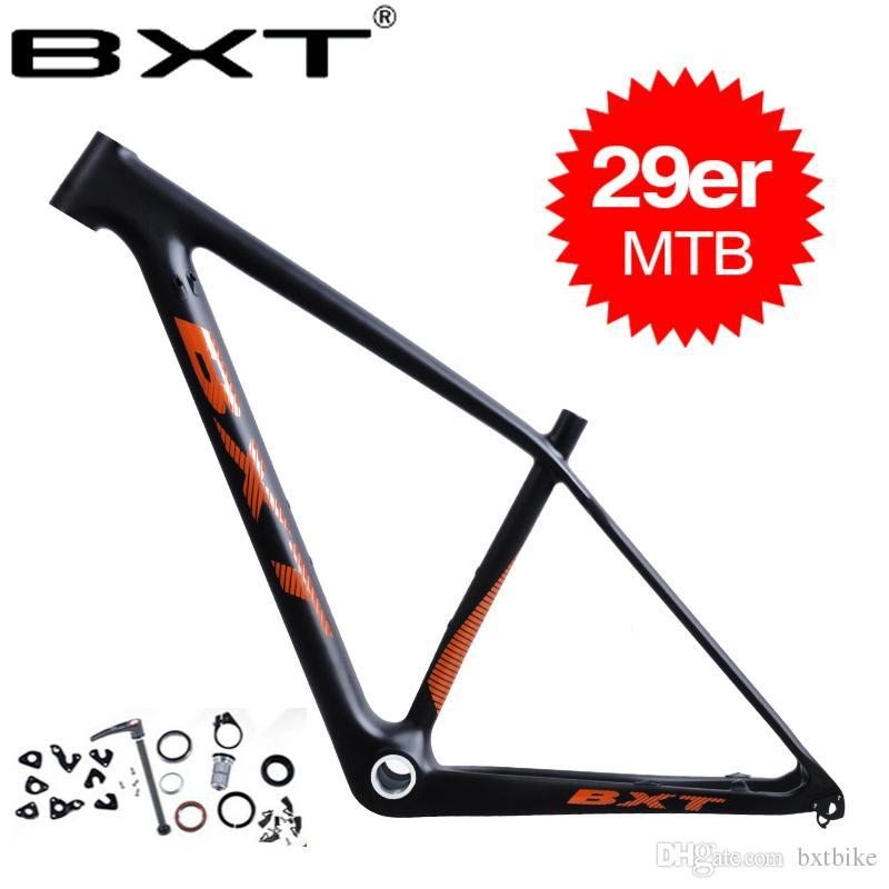 0786bb8ee Compre BXT Venda Da Fábrica 29er Mountain Bike Quadro De Carbono Chinês Mtb  Bicicleta Quadro T800 Fibra De Carbono 142   12 Ou 135   9 Parte Da  Bicicleta De ...