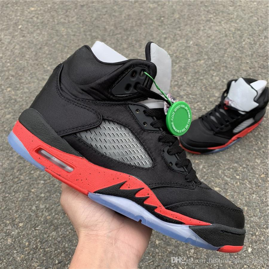 329ca65a8dcd5 New Fashion 5 Hydro V Satin 136027 006 High Carbon Fiber Basketball Shoes  Designer Mens Women Shoes 5s Sneakers Casual Shoe With Double Box Shoes On  Sale ...