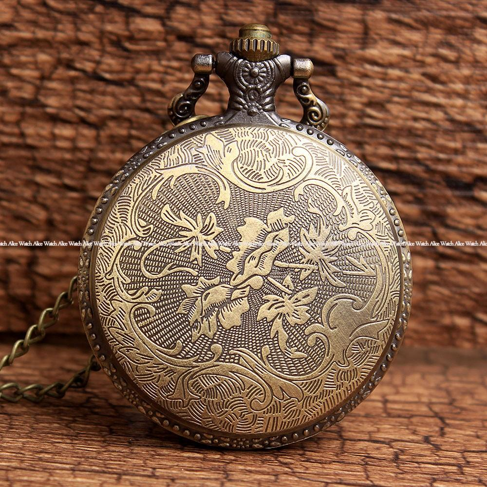 Retro Bronze Classic Anime Spiderman pocket watch Mens vintage Quartz Pocket fob Watch Necklace Chain Pendent Arabic Relogio
