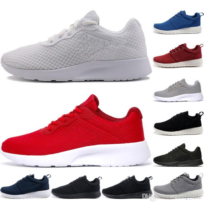 8eb235de2182 Acheter Nike Tanjun Shoes 2019 Tanjun Run Running Chaussures Hommes 1.0  Triple Noir Faible Léger Respirant London Sports Olympiques Baskets Femmes  3.0 ...