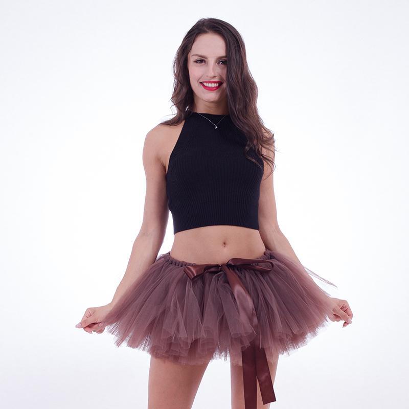 33d244228bf0 2019 Summer Women Skirt 2018 Midi Dance Tutu Sexy Mini Tulle Skirt Puffy  Short Skirt Elastic Waist For Party Faldas Mujer Saias Jupe From Bibei08,  ...