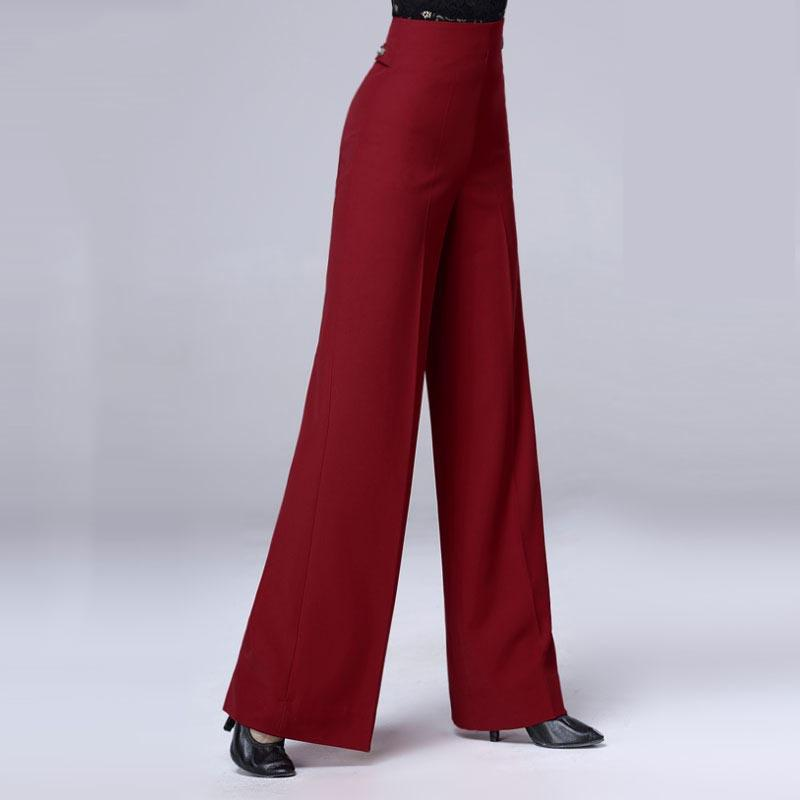 Ballroom Dance Pants Women Autumn And Winter Thickening Loose Straight Trousers Waltz Dancing Clothes Ladies Practice DNV11211