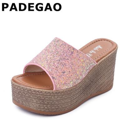 c2be74348808 Summer Wedge Slippers Platform High Heels Women Slipper Ladies Outside  Shoes Basic Clog Wedge Slipper Flip Flop Sandals Discount Shoes Waterproof  Boots From ...