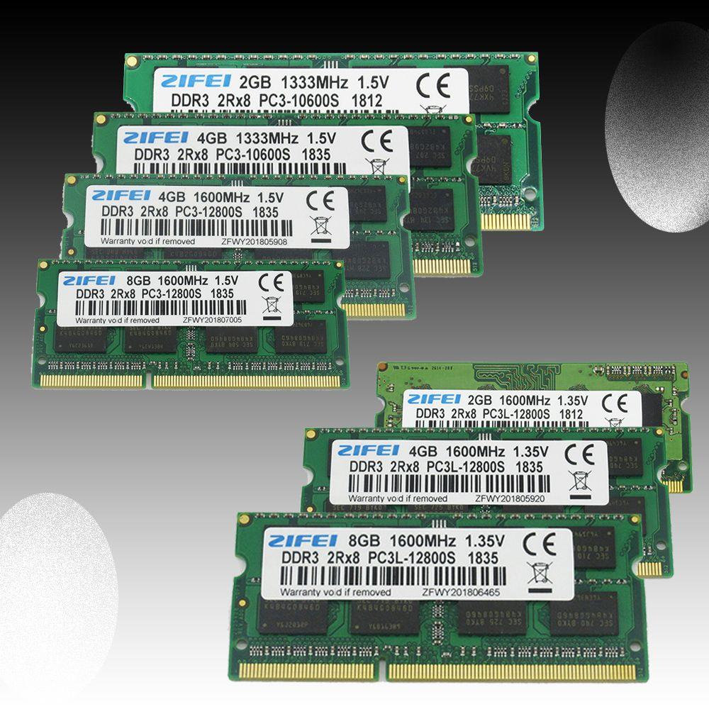 DDR3 RAM 2GB 4GB 8GB 1333 MHz 1600Mhz 1 5V&1 35V Laptop Memory so dimm
