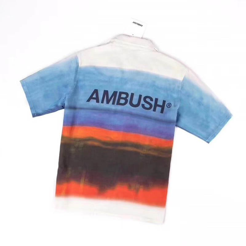 New Arrivals Ambush Shirts Men Women 1:1 Beach Travel Summer Short Sleeve Soft Hip Hop Ambush Casual Shirts