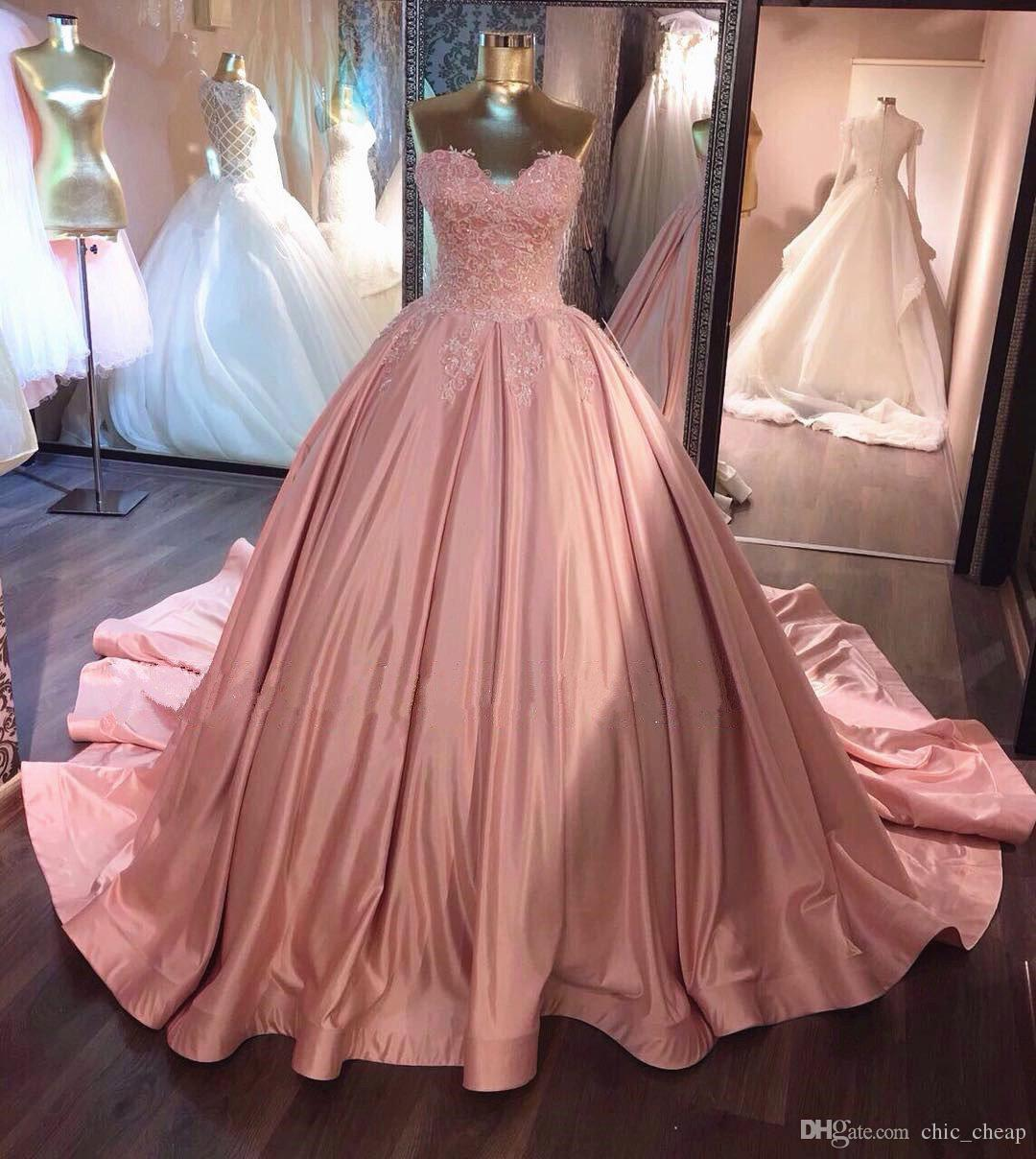 23b0db5641b Sweetheart Ball Gown Quinceanera Dresses With Corset Bacl Sweep Train  Sleeveless Ball Gown Prom Dresses With Lace Top Custom Quinceanera Dresses  Damas ...