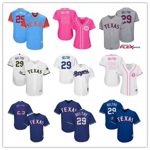 half off d7d83 0de05 2018 top Texas Rangers Jerseys #29 Adrian Beltre Jerseys  men#WOMEN#YOUTH#Men's Baseball Jersey Majestic Stitched Professional  sportswear