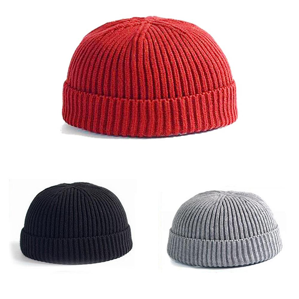 1699e04d5650 Winter Warm Knitted Skullcap Casual Short Thread Hip Hop Hat Adult Men  Beanie Wool Knitted Beanie Skull Cap Elastic Hats Unisex C19022301 Beanie  Hoodies ...