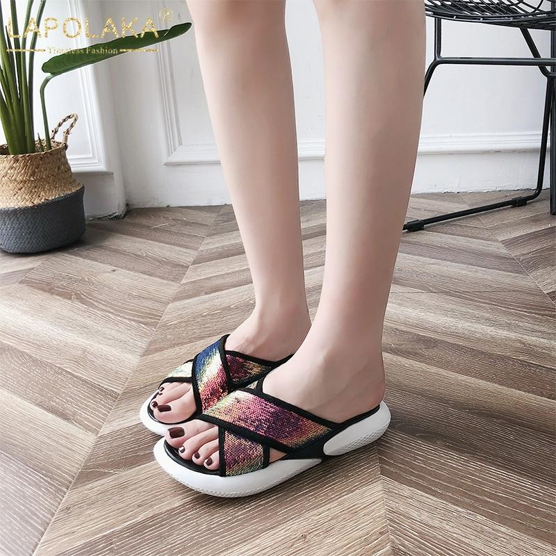 74520198b1e0 LAPOLAKA 2019 Chic Style Fashion Leisure Sneakers Flat Summer Slippers Shoes  Women Soft Light Vacation Flip Flops Woman Shoes Shoe Sale Suede Boots From  ...